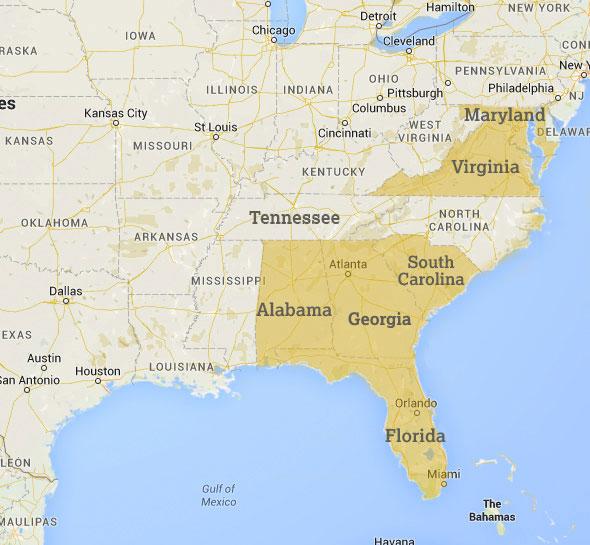 CRC Portfolio Map