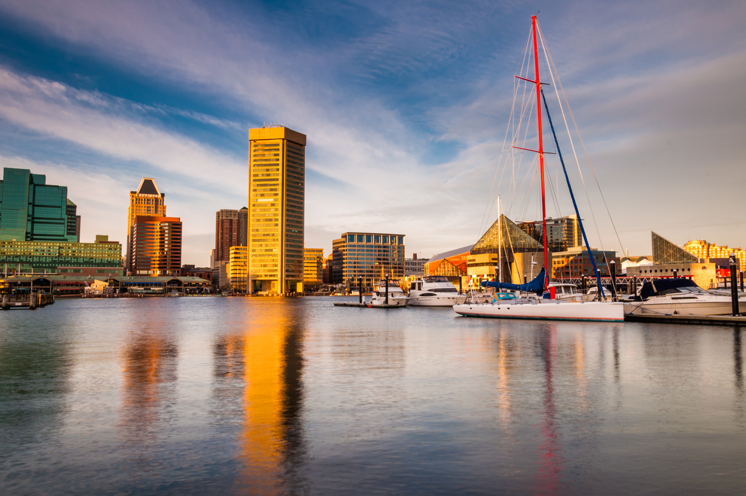 Downtown Baltimore Maryland