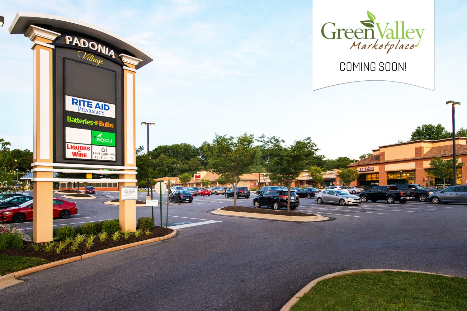 Green Valley Marketplace Selects Padonia Village as Site for